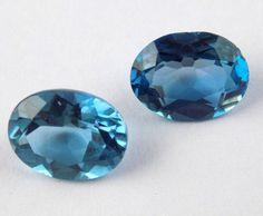 2 Pcs Natural Swiss Blue Topaz Oval 7x9mm 4Cts Normal Cut Loose Jewelry Gemstone #Raagarw
