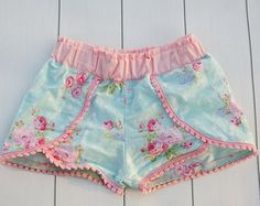 SUMMER girl's frilly shorts sewing pattern Silly Frilly