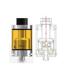 Ijoy Tornado Nano RTA Tank - 4ML  /  50*24mm , 18.6mm Two Post Deck , Top Filling System     #efuntop #vape #rdta #vaping #ecig