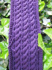 Ravelry: Reversible Cable Scarf pattern by Nettie DiLorenzo