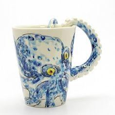 Aquatic Octopus Animal Lover Gifts Ceramic Mug Decorate