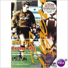 Hull City v Exeter City 09/04/1994 Division 2 Football Programme Sale