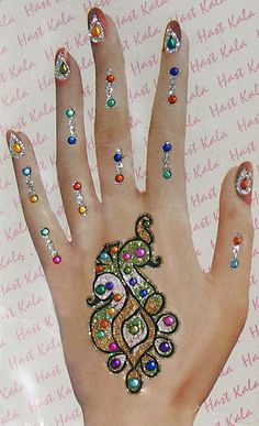 Beautiful Arabic Glitter Mehndi Designs Pictures