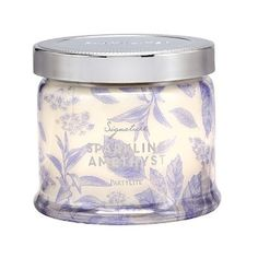 Sparkling Amethyst 3-Wick Jar Candle-where shimmering raspberry and dark plum swirl with rich fig and tobacco in an exotic, enchanting embrace. Burn time: 25-45 hours. $27.00 each http://partylite.biz/legacy/sites/juliehoyman/productcatalog?page=productdetail&name=Sparkling+Amethyst+3-Wick+Jar+Candle&sku=G73B826&categoryId=58969&showCrumbs=true