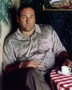 James Gandolfini ~James Gandolfini - Sept - June Died of an apparent heart attack while on vacation in Italy. He was 51 years young. Best known for his role as mob boss, Tony Soprano on the HBO series The Sopranos. Tony Soprano, Boardwalk Empire, Os Sopranos, Mafia, Believe, Famous Faces, Best Shows Ever, Best Tv, Etsy Vintage