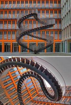 """The Worlds 10 Most Stunning Stairways Design - """"Umschreibung"""" at KPMG Building Munich (Germany)"""