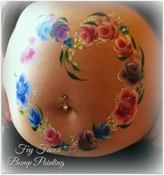 We offer professional baby bump painting / pregnancy art. Experienced body artists with a large portfolio. Bump Painting, Belly Painting, Pregnancy Bump, Baby Bumps, Nursery Themes, New Baby Products, Heart, Flowers, Bebe