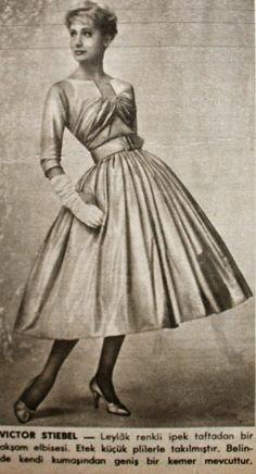 OĞUZ TOPOĞLU : victor stiebel 1959 tafta akşam elbisesi modelleri...