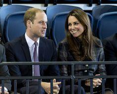 4th April, 2013: Prince William Duke of Cambridge and Catherine, Duchess of Cambridge visit The Emirates Arena in Glasgow.