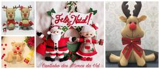 5 Moldes para hacer renos y muñeco de santa claus y señora claus en fieltro ~ Solountip.com Christmas Stockings, Christmas Ornaments, Projects To Try, Xmas, Holiday Decor, Creative, Home Decor, Christmas Crafts, Christmas Decor