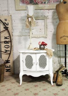 Painted Cottage Chic Shabby White French End by paintedcottages, $130.00