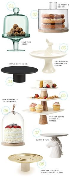 8 Awesome Cake Plates | Oh Happy Day!