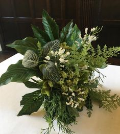 Small wedding bouquets are one of this year's new trends! This one is all faux in green and white! Small Wedding Bouquets, Small Bouquet, Let Me Know, Let It Be, Some Beautiful Images, New Trends, Raven, Thinking Of You, Floral Design