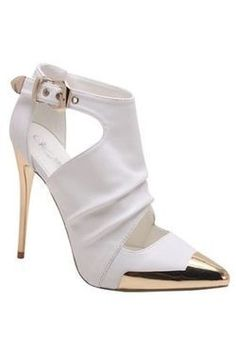 I love these white heels. So pretty!
