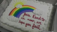 LOVE THIS!   Goodbye Party Cake Says We Hope You Fail | Happy Place