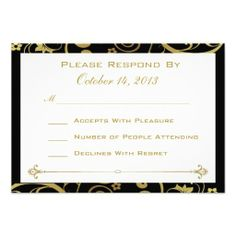 Black and Gold Swirl Reply Card in each seller & make purchase online for cheap. Choose the best price and best promotion as you thing Secure Checkout you can trust Buy bestHow to          Black and Gold Swirl Reply Card Review on the This website by click the button below...