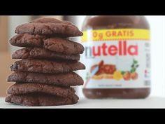 NUTELLA KEKSE mit nur 3 Zutaten - lecker, schnell und einfach -REZEPT - YouTube