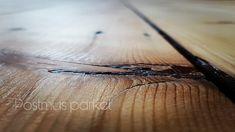 Grenen vloer, geschuurd gelakt