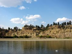 Yellowstone River Billings Montana-rest stop scene