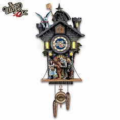 The Wizard Of Oz All In Good Time, My Little Pretty Lights Up Cuckoo Clock