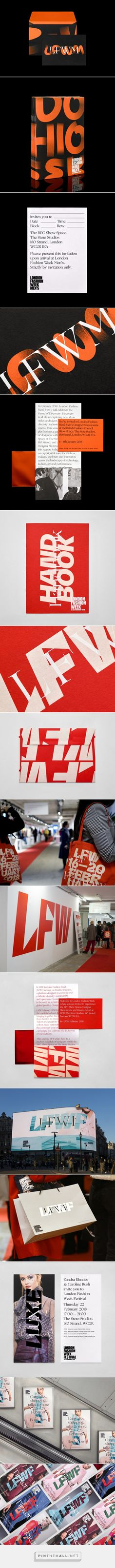 New Graphic Identity for London Fashion Week by Pentagram — BP&O - created via https://pinthemall.net