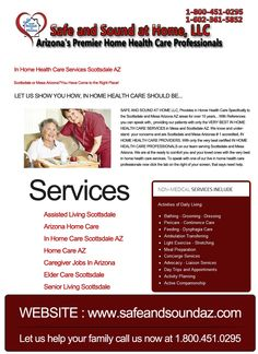Assisted Living In Scottsdale AZ - Whether you are in Scottsdale in Arizona or in Saratoga in California, your problems are no less different when it comes to giving time to the elderly at home. So, if you are looking for lucrative options then our assisted living center can help you. . For more information visit http://www.safeandsoundaz.com