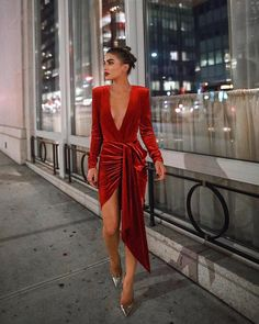 Bodycon Dresses - Sexy Deep V Neck Belt Tie Irregular Mini Bodycon Dress Source by - Bodysuit With Skirt, Bodysuit Dress, Beste Jeans, New Years Eve Dresses, New Years Outfit, Business Mode, Holiday Party Dresses, Holiday Party Outfit, Red Holiday Dress