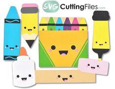 Kawaii School supplies from SVG Cutting Files