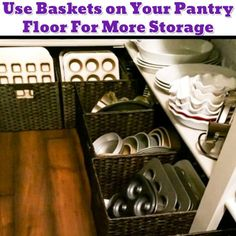 Pantry organization idea to get more space in your pantry - Getting Organized - 50+ Easy DIY organization Ideas To Help Get Organized #gettingorganized