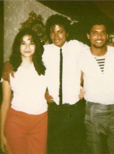 Michael Jackson with cousin Tony and his wife Debra.