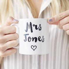 Personalised Heart Wedding Mug