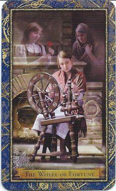 X. The Wheel of Fortune - Wizards Tarot authored by John Blumen, Corrine Kenner