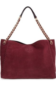Tory Burch 'Marion' Suede Tote available at #Nordstrom