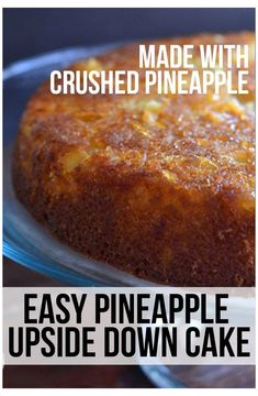 Crushed Pineapple Cake, Recipes With Crushed Pineapple, Pineapple Upside Cake, Pinapple Cake, Pineapple Dessert Recipes, Pineapple Slices, Pineapple Upside Down Cake Recipe From Scratch, Uses Of Pineapple, Easy Cake Recipes