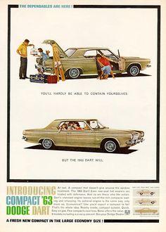 1963 Dodge Dart advertisement. My first car.