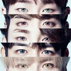 Is it crazy that i can tell who is who just by looking at their eyes? #shawol