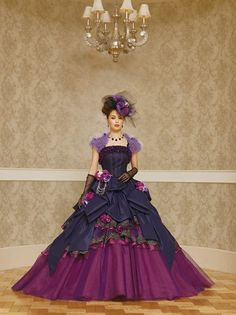 4692f1b81a7 Wedding Dress Fantasy - Peacock Themed Blue and Purple Wedding Dress Purple  Gowns