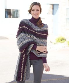 Free Easy Level Crochet Pattern | Afternoon Wrap - Yarnspirations