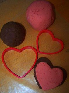 Valentine's Day or February play dough