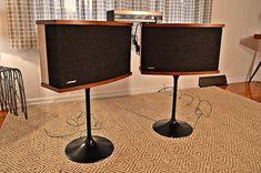 Vintage Bose 901 Series V Speakers on Tulip Bases —