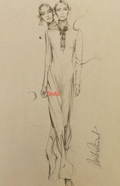 Valentino, illustration by Davide Petraroli