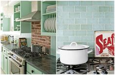 Seaglass subway tile