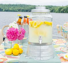 How to create a beverage station {lemonade} for any occasion. Four Generations One Roof