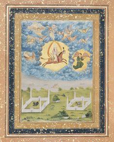 Recto: Discourse of scholars and calligraphy; Verso: The Mi'raj   Museum of Fine Arts, Boston-Indian, Mughal Mughal period 1622 Calligrapher Abdu'r Rashid Dailmi