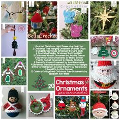 20 Free Crochet Patterns for Christmas Ornaments You Can Crochet for Your Tree This Year! Free Pattern Friday at Oombawka Design Crochet. via @OombawkaDesign