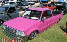pink Pickup Trucks | ... West Coast Nationals Truck Show Custom Pink Mazda Pickup Photo 183
