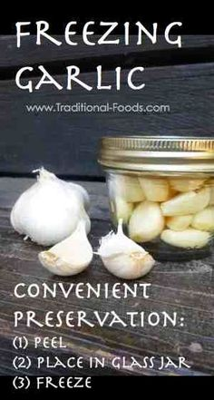 Freezing Garlic @ Traditional-Foods.com