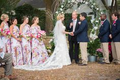 Ceremony on Backside of Garden House under the trees.  Great location as it is mostly shaded http://celebrationsoftampabay.com/photographers-pasco-county/