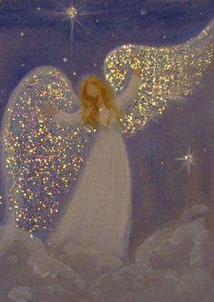 ACEO Original Angel Painting Spiritual Inspirational Healing Energy by Breten Br… - Malerei Kunst Christmas Paintings, Christmas Art, Christmas Angels, Art Paintings For Sale, Angel Paintings, Ebay Paintings, Angel Pictures, Angel Images, Angel Art