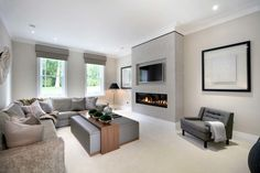 Reference modern / recessed fireplace